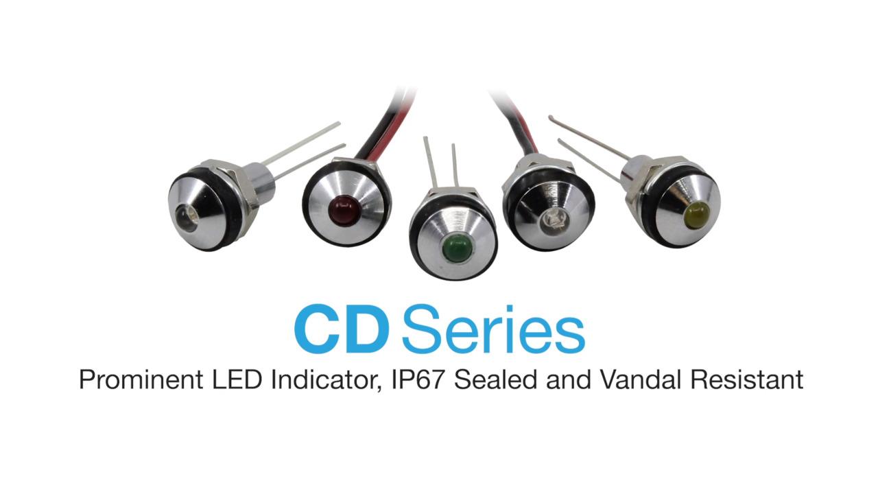 "CD Series - .236"" IP67 Sealed LED Indicator"