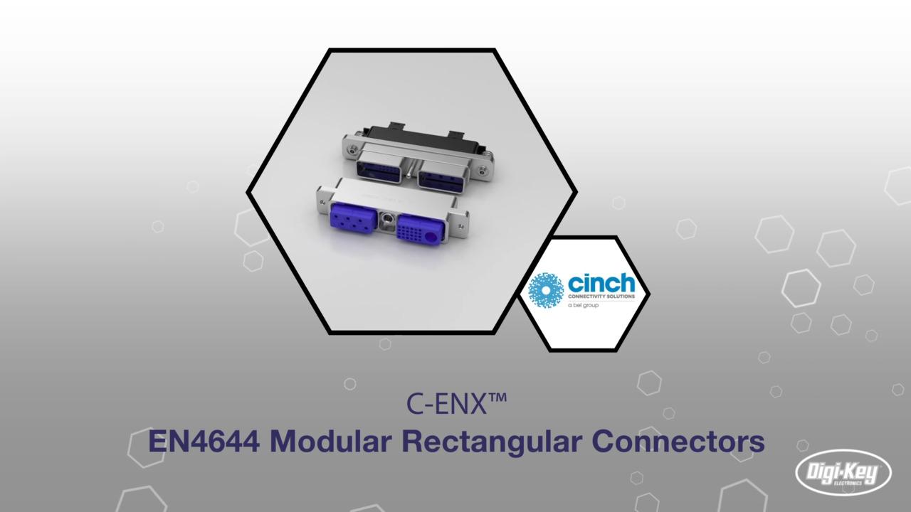 C-ENX™ EN4644 Modular Rectangular Connectors   Datasheet Preview