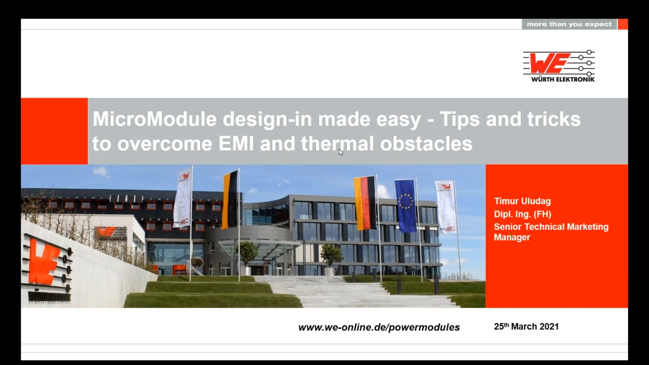 WEbinar Powered by Digi-Key: Micromodules- Design-In Made Easy: Tips and Tricks