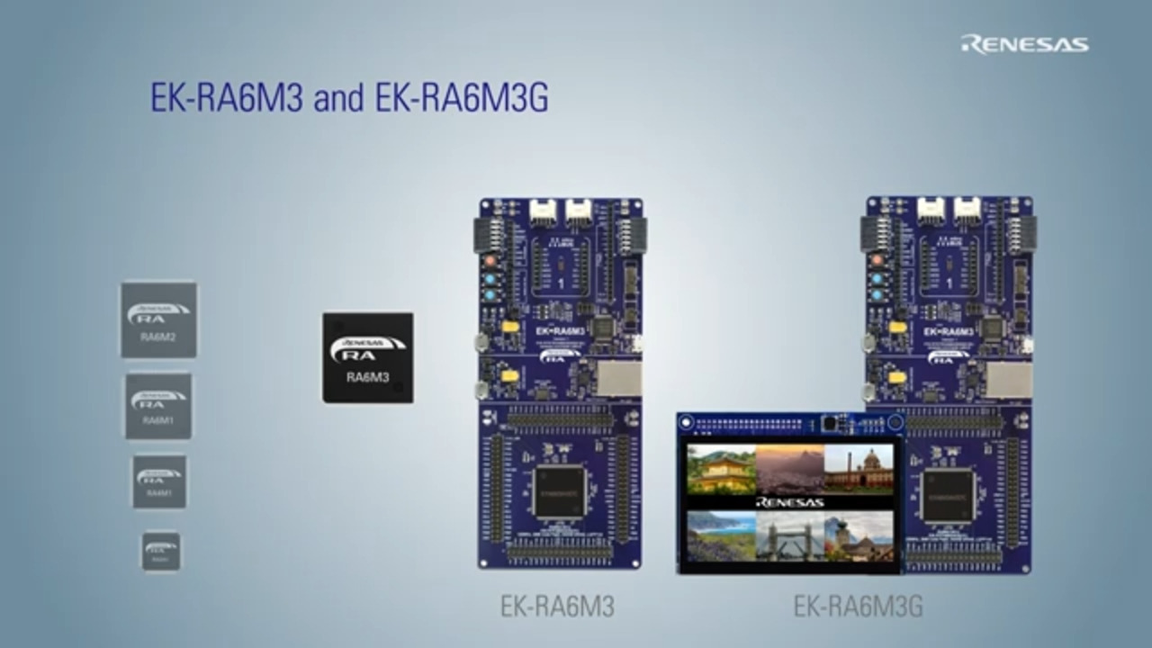 Evaluation Kits for Renesas Advanced (RA) Microcontrollers