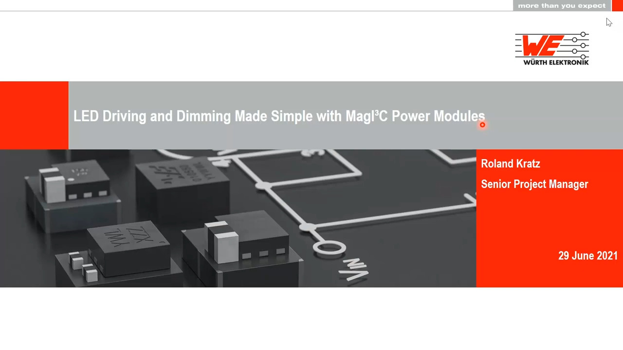 WEbinar Powered by Digi-Key: LED Driving and Dimming Made Simple with MagI³C Power Modules