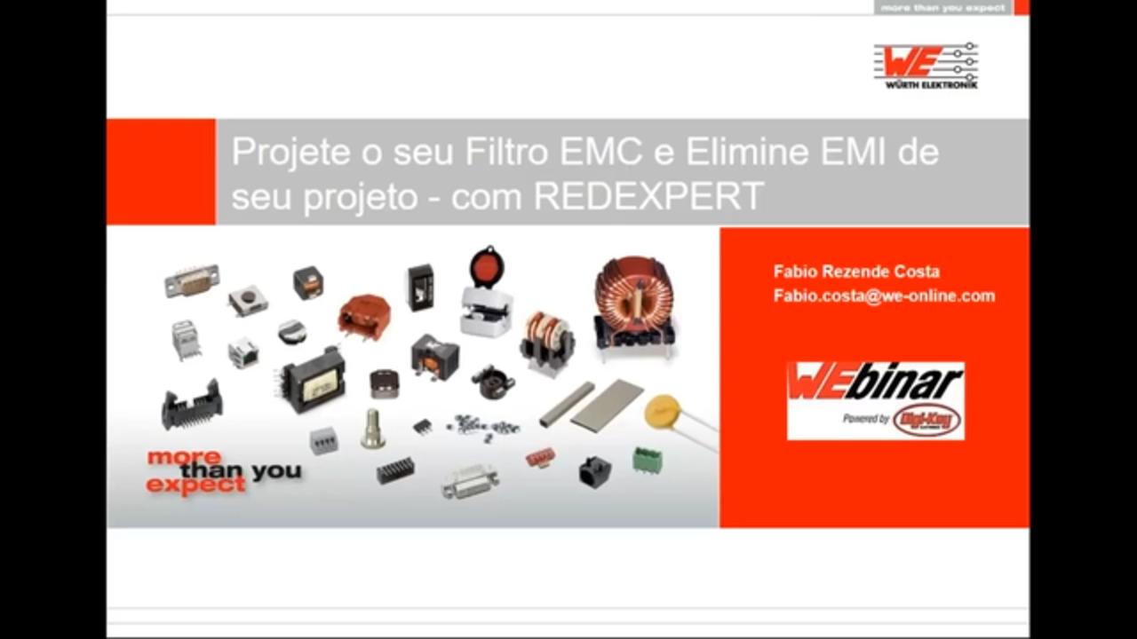 WEbinar Powered by Digi-Key: Projete o seu Filtro EMC e Elimine EMI de seu projeto - com REDEXPERT (Portuguese)
