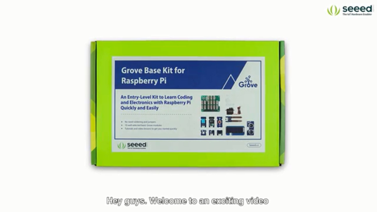 Grove Base Kit for Raspberry Pi - Unboxing + Getting Started + Video