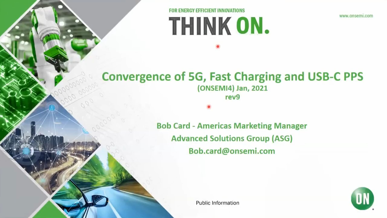 Convergence of 5G, Fast Charging and USB-C PPS