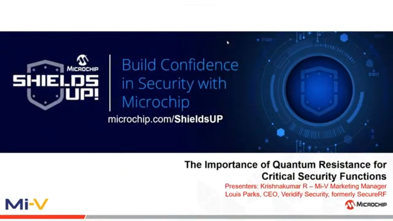 Shields UP #6 - The Importance of Quantum Resistance for Critical Security Functions