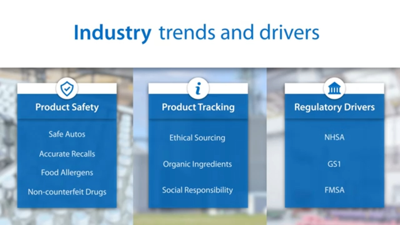 Omron Traceability Solutions for product safety, compliance and tracking