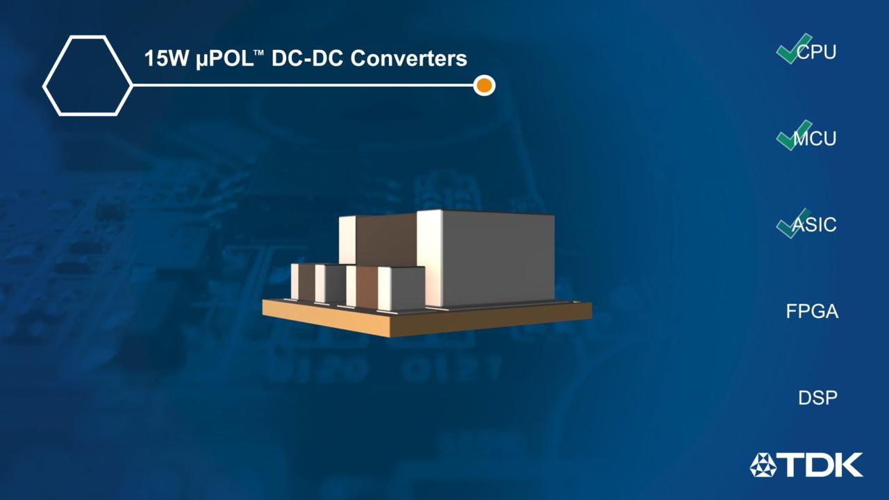 TDK's Ultra-small µPOL DC-DC Power Converter