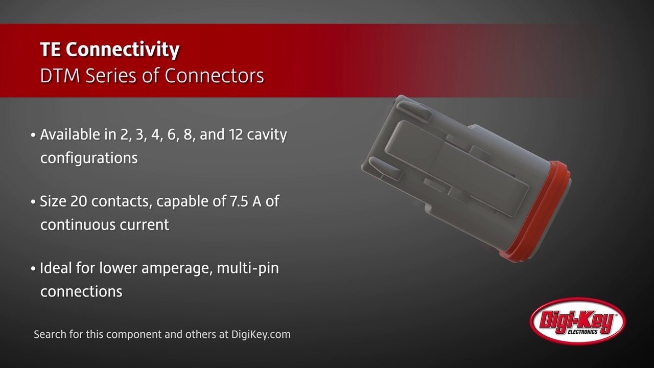 TE Connectivity DTM Series Connectors | Digi-Key Daily