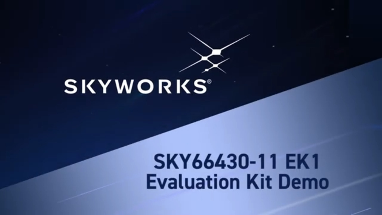 Evaluation Kit Demo for SKY66430-11, The World's Smallest 5G Massive IoT Solution
