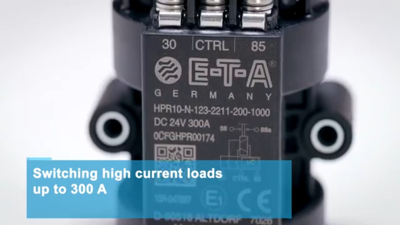 E-T-A Power Relays MPR and HPR  product film