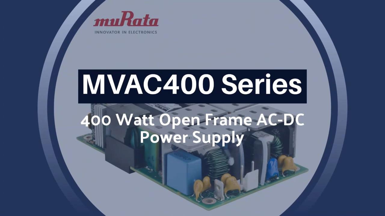 MVAC400 Series Open Frame AC-DC Power Supply