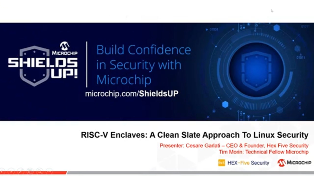 Shields UP #5 - RISC V Enclaves: A Clean Slate Approach to Linux Security