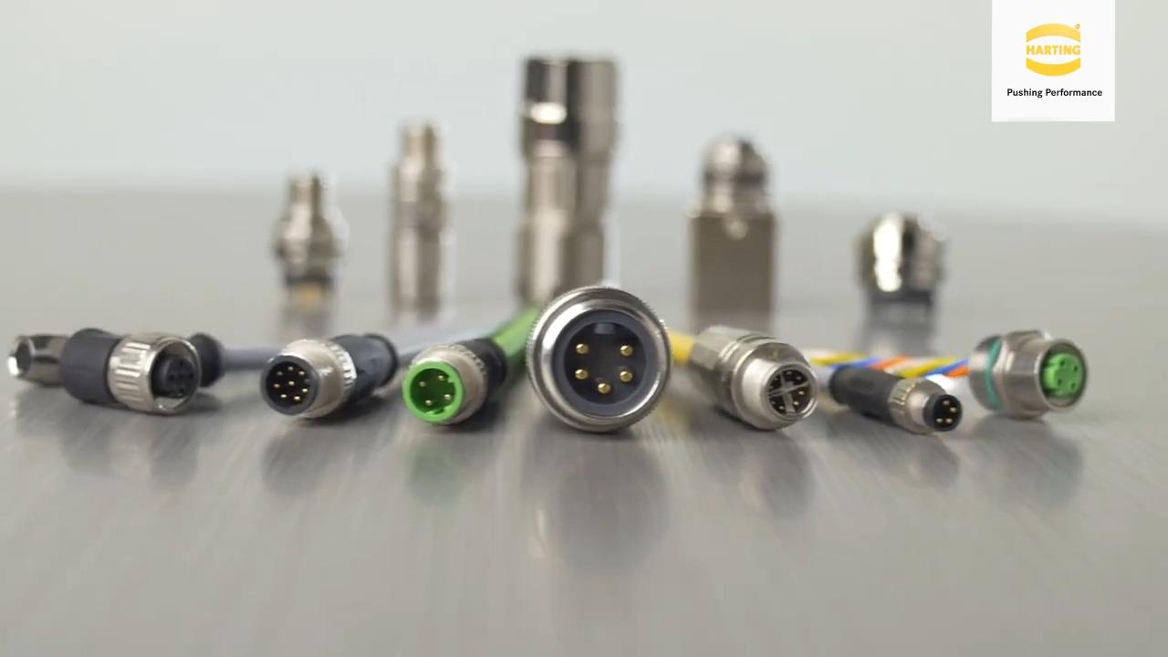 M8/M12 Industrial Circular Electrical Connectors