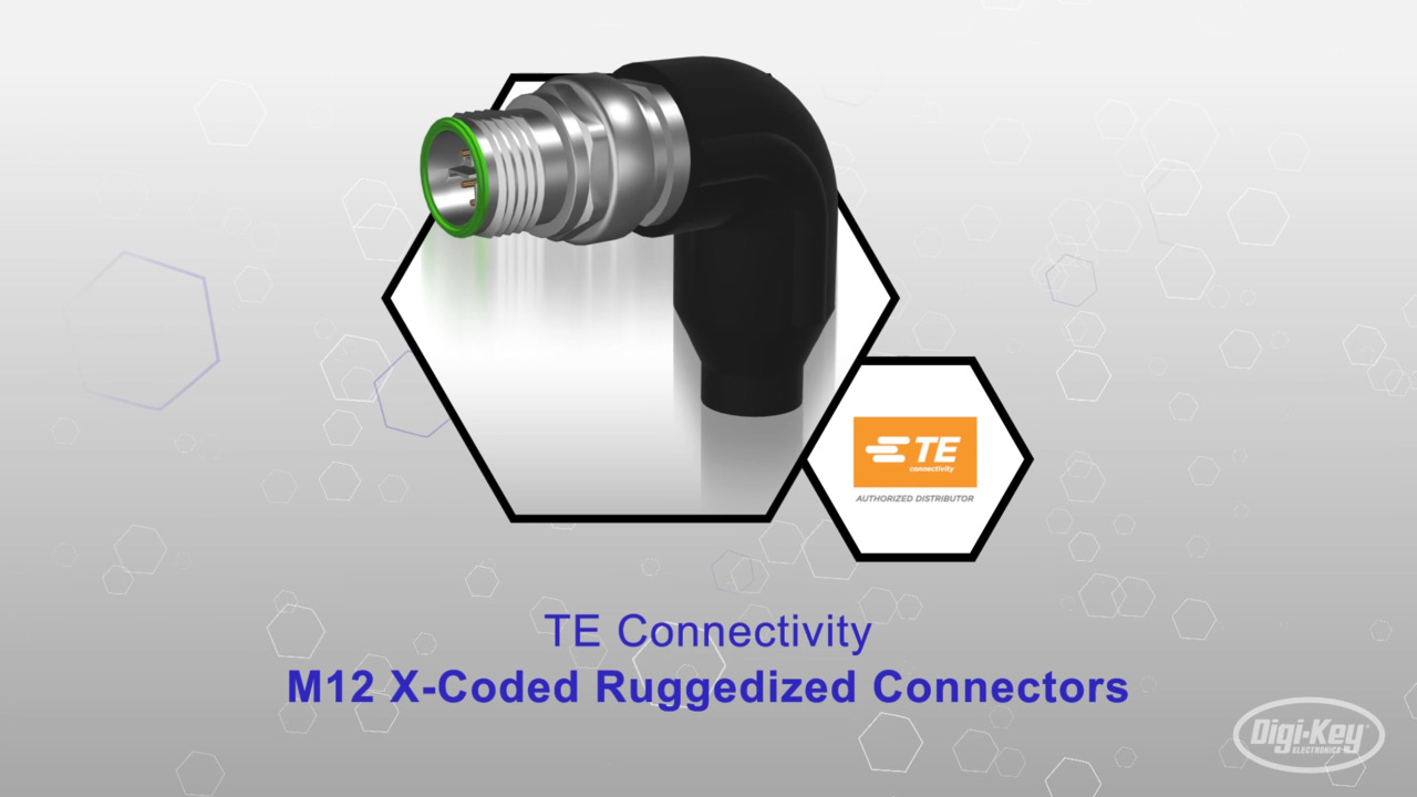 M12 X-Coded Ruggedized Connectors | Datasheet Preview