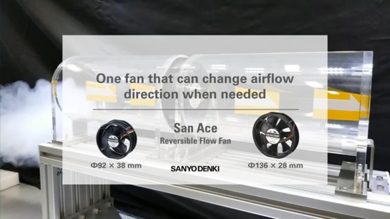 Sanyo Denki Reversible Flow Fans