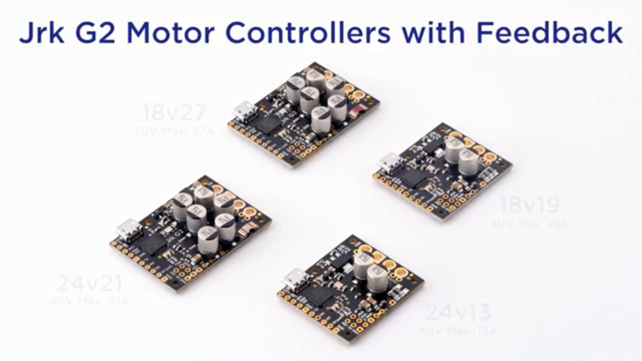 Jrk G2 Motor Controllers with Feedback from Pololu