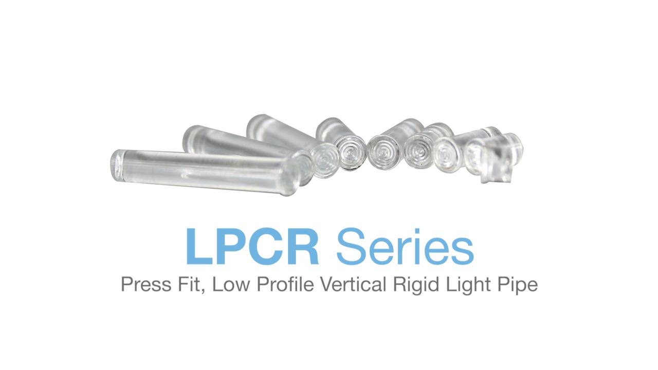 LPCR Series - 0.171″ Press Fit, Low Profile, Fresnel Lens Vertical Rigid Light Pipe