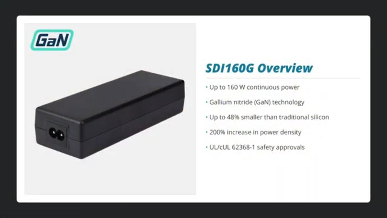 160 Watt GaN Desktop Adapter- Portable Power