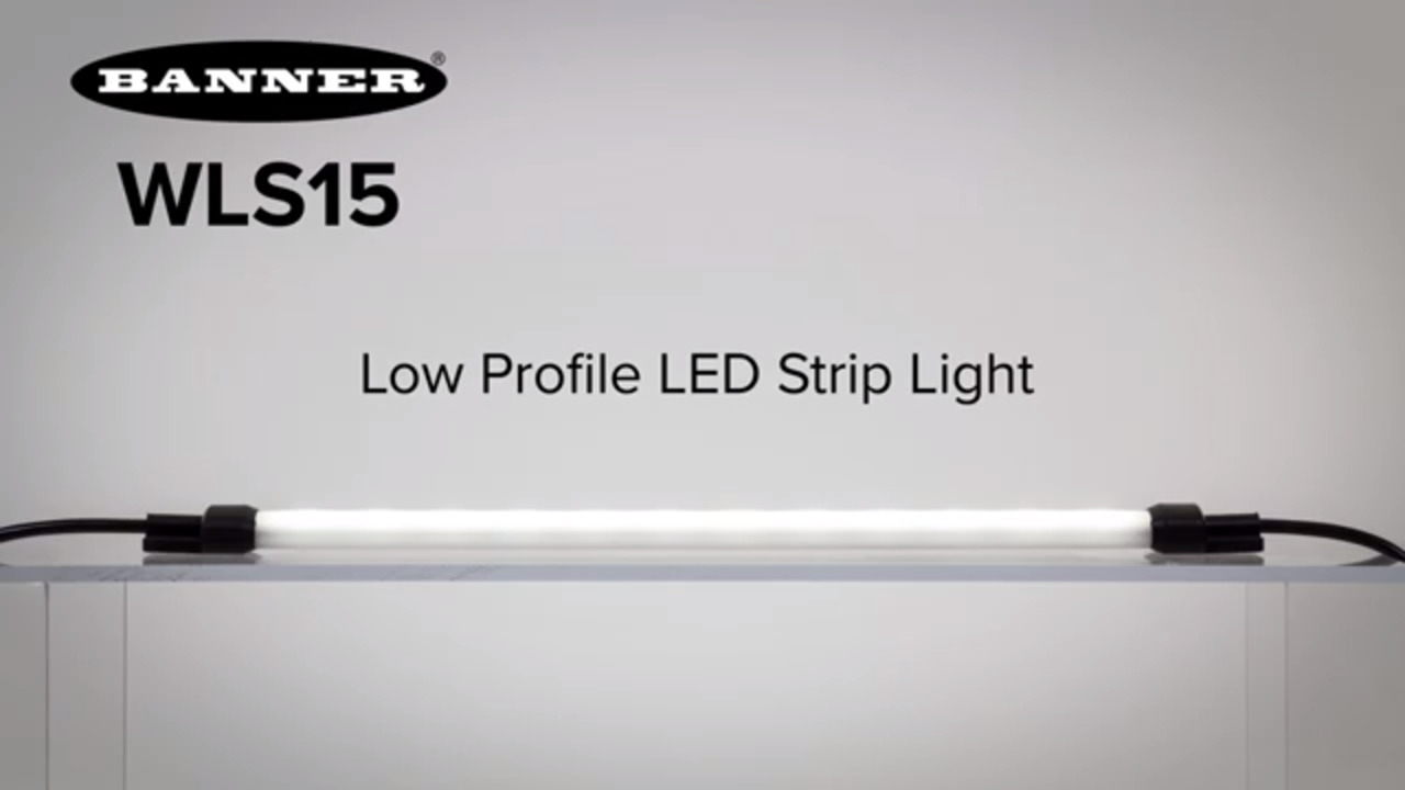 WLS15 Low Profile, Low Power LED Strip Light for Illumination in Tight Spaces