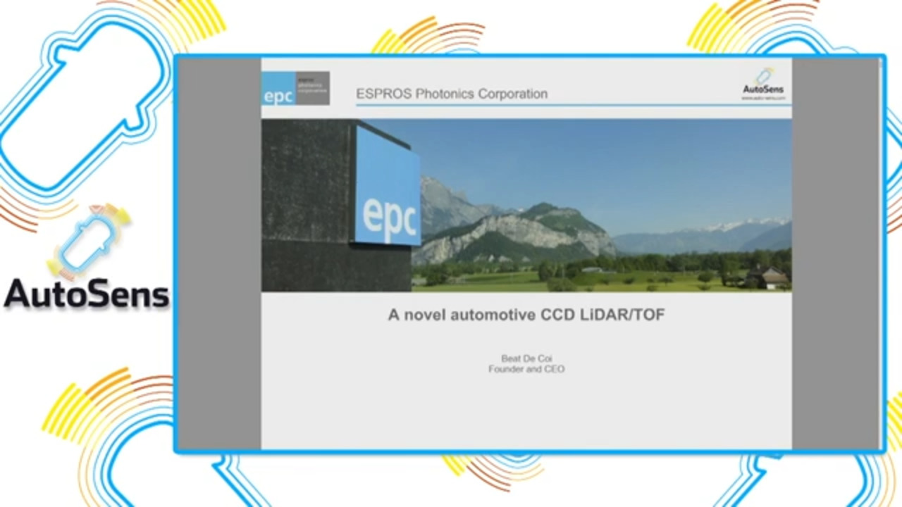ESPROS Presentation at AutoSensBrussels: A novel CCD LiDAR imager