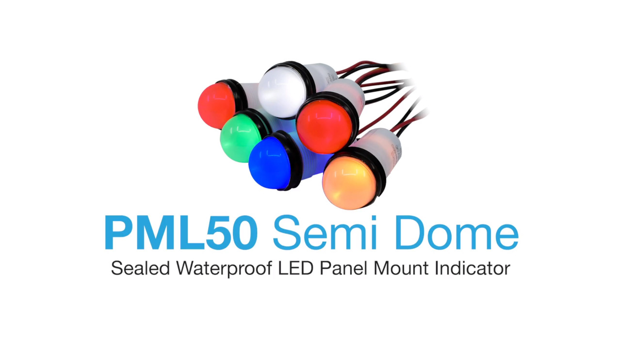 PML50 Series - Waterproof LED Panel Mount Indicator