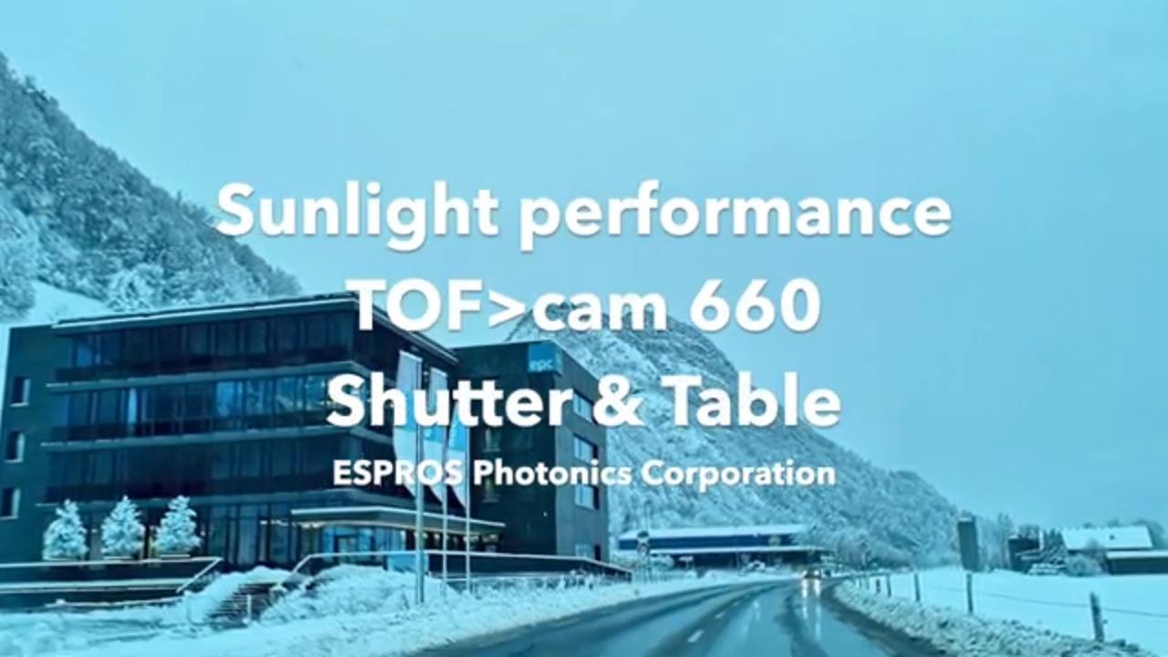 ESPROS TOFcam660 Sunlight performance Roller Shutter