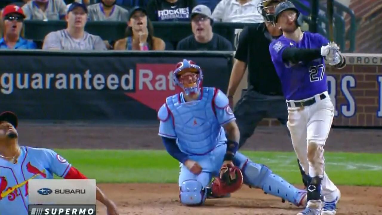 Rockies history crushes 461-foot three-run homer against Cardinals