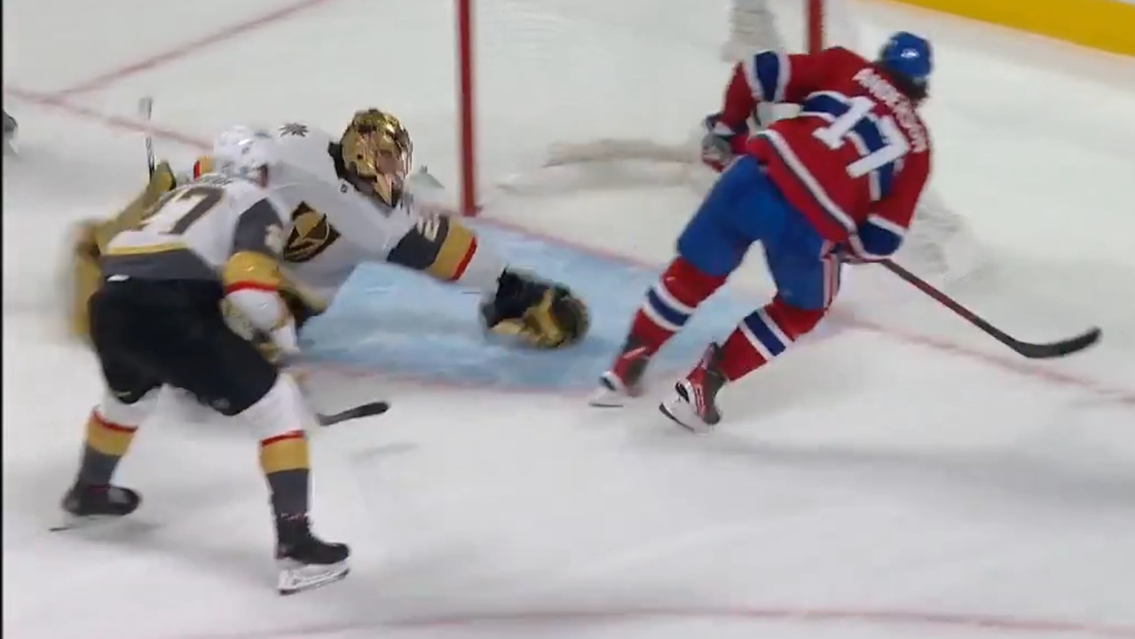 Anderson hits the puck into the open net with a pass from Byron for the winner of overtime