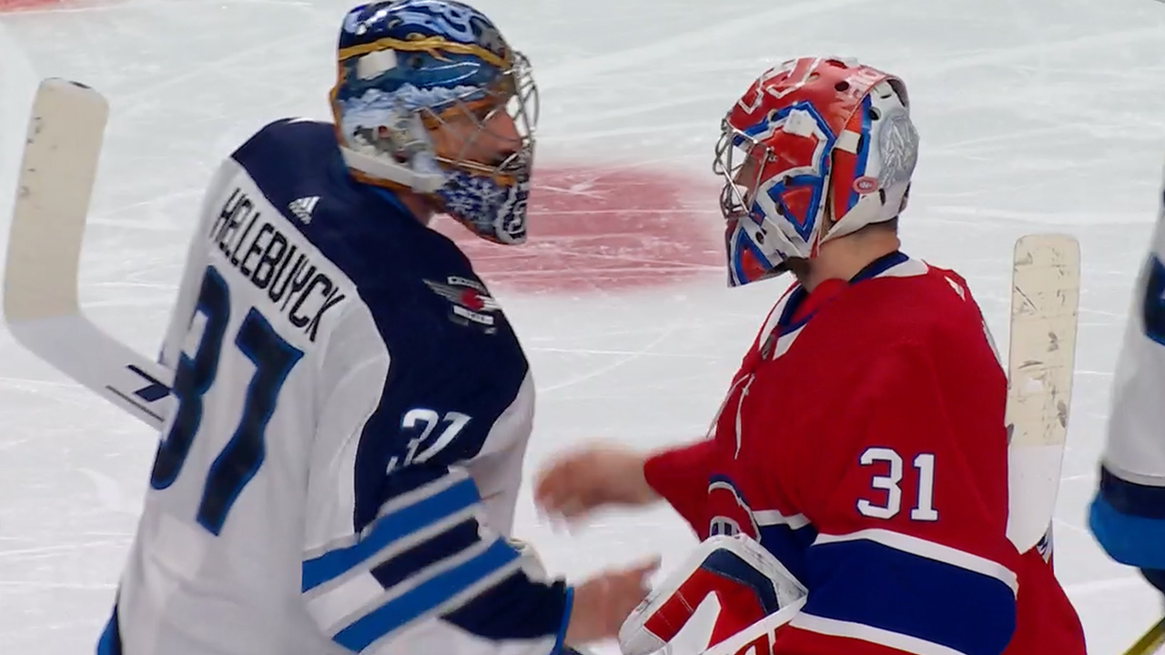 Canadiens exchange handshakes with Jets after series sweep
