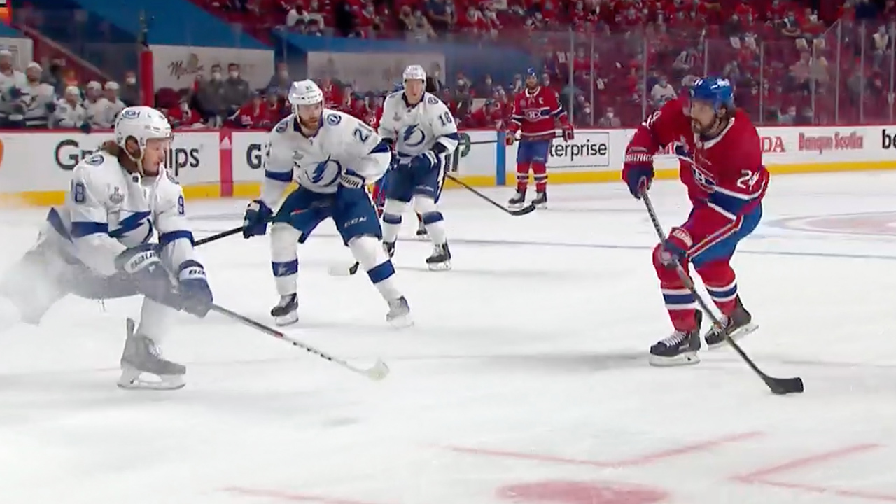 Gotta see: Danault cuts Lightning's lead in half with first goal in 22 games