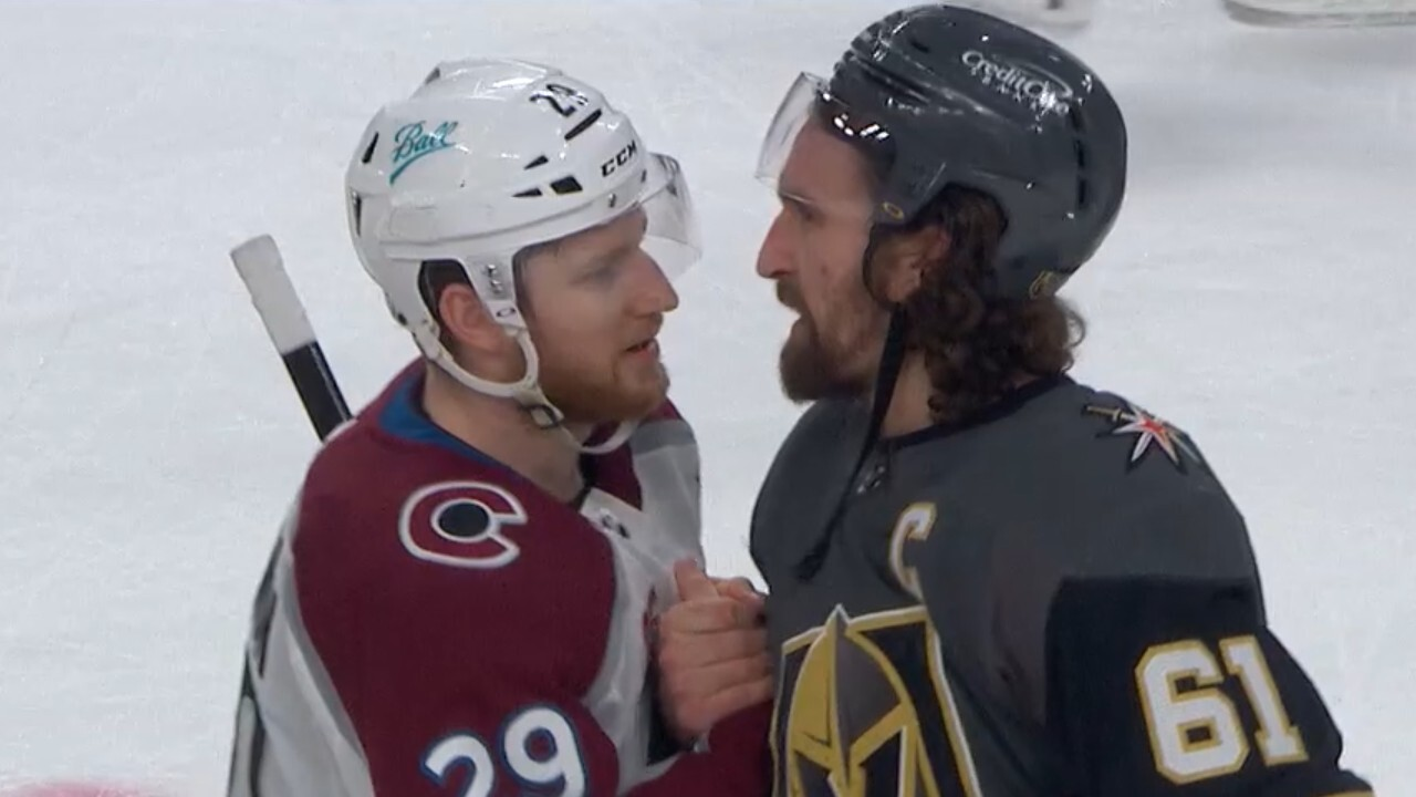 Golden Knights and Avalanche shake hands after exciting series