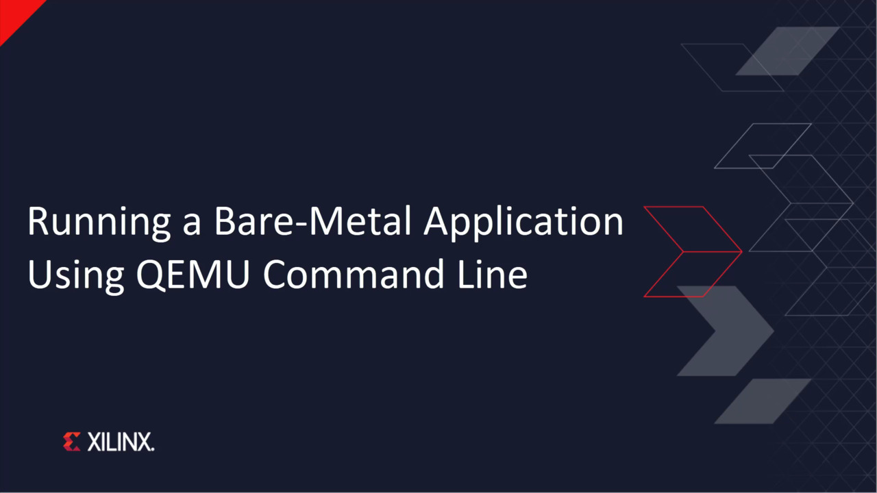 Running a Bare-Metal Application Using the QEMU Command Line