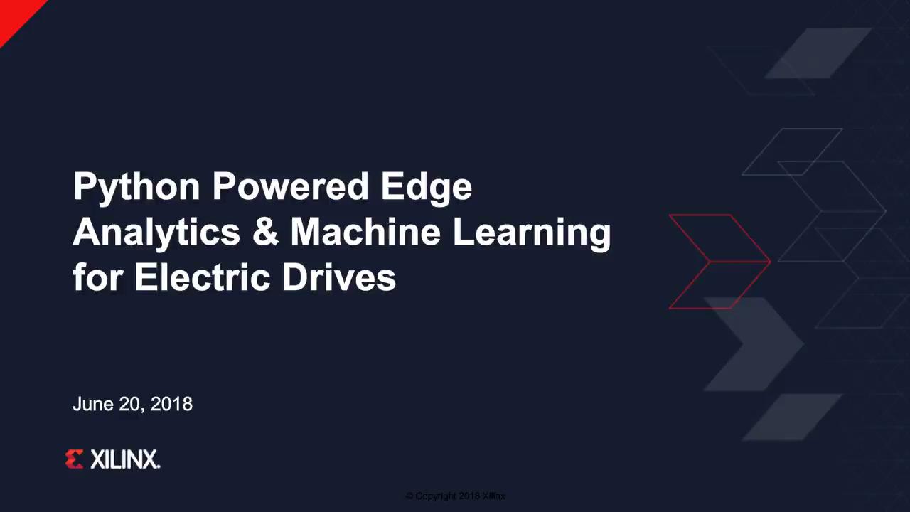 Python Powered Edge Analytics & Machine Learning