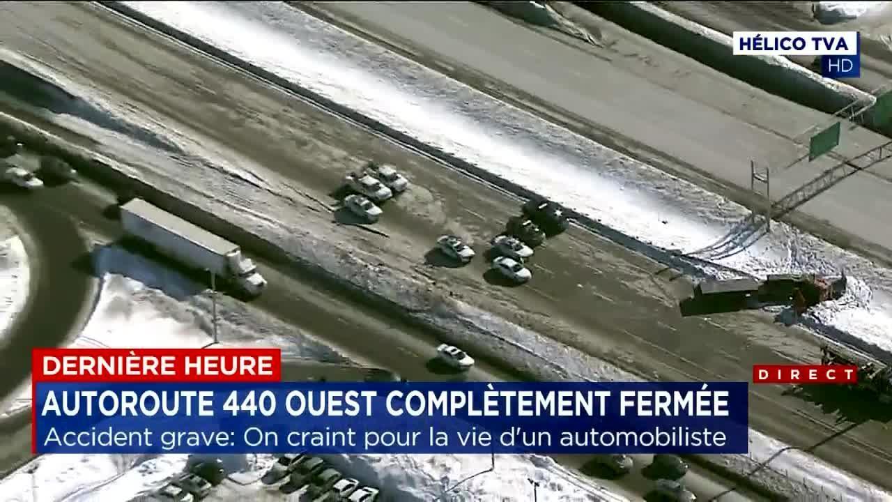 Grave accident sur l'autoroute 440: dernière heure