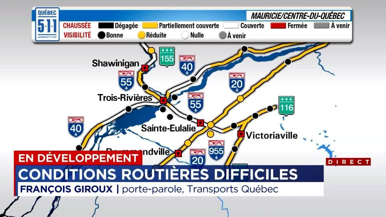 Condition Routiere Quebec >> Conditions Routieres Difficiles A Travers Le Quebec Tva Nouvelles