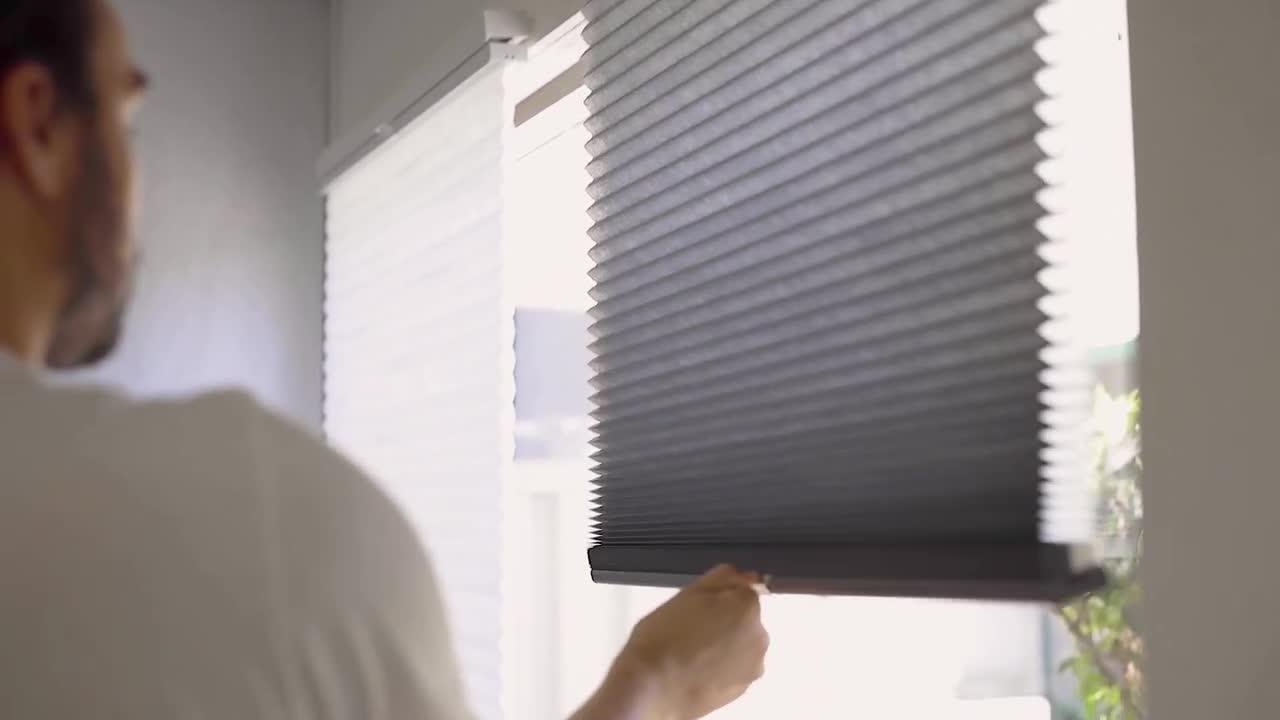 Chicology Cut To Size Morning Mist Cordless Light Filtering Privacy Cellular Shades 24 X 48 In L Ccsmm2448 The Home Depot