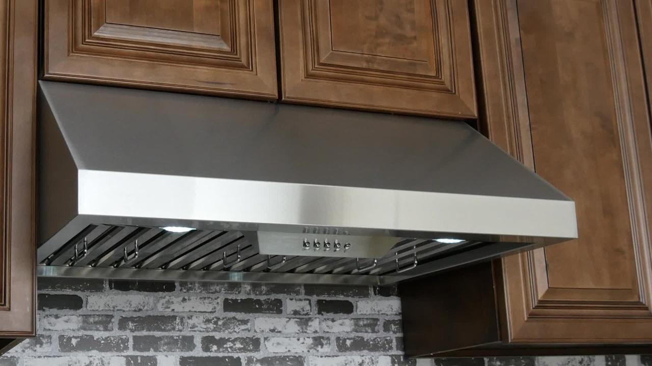 AKDY Under Cabinet Range Hood: Model RH0235 & RH0236 [Product Showcase]