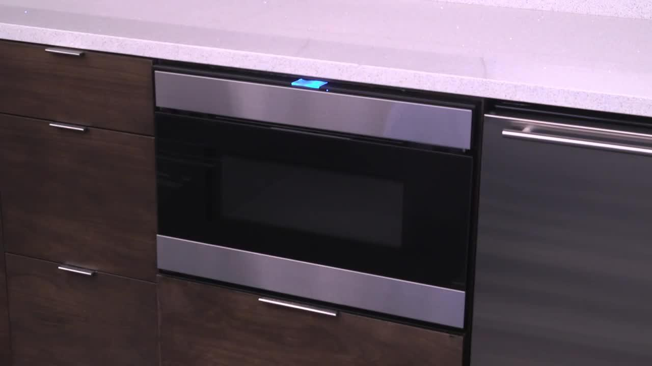 Sharp's New Easy Wave Microwave Drawer Opening System