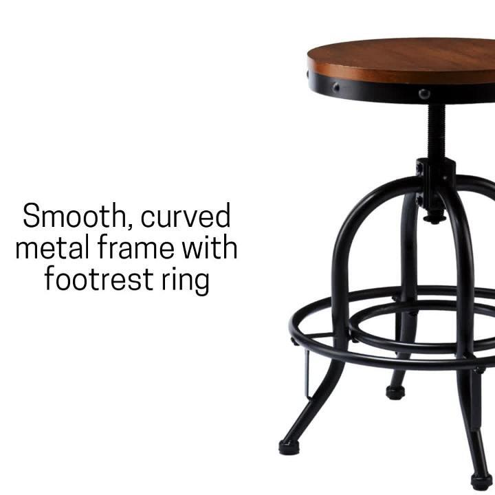 Reviews For Southern Enterprises Christopher Industrial Adjustable Height Black Bar Stool Hd864365 The Home Depot
