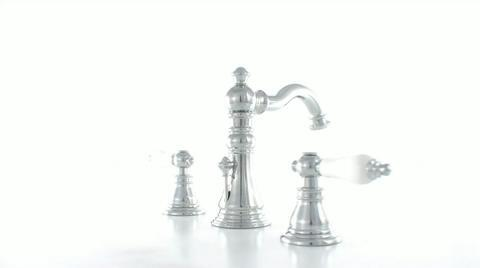 8-1//2 Inch in Spout Reach Brushed Brass Kingston Brass KS3247BL Vintage Bathroom Faucet