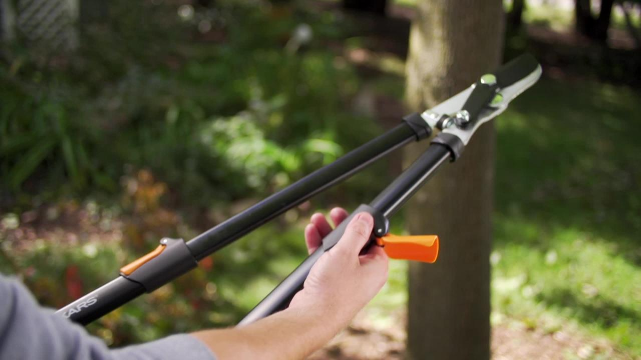 685 mm High Leverage Gear Action Soft Grip Bypass Lopper Avec Aluminium Poignées