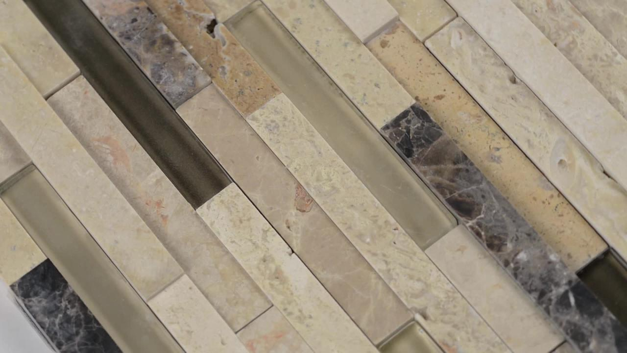 Msi Ashlar Rock Interlocking 8 In X 18 In X 8 Mm Glass And Stone Mesh Mounted Mosaic Tile 1 Sq Ft Sglsil Ar8mm The Home Depot