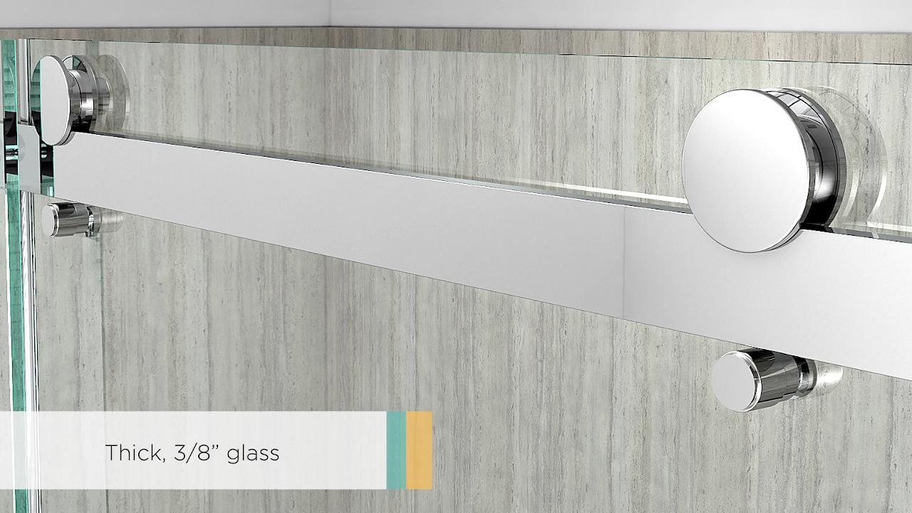 American Standard Passage 60 In X 72 In Frameless Sliding Shower Door In Clear Glass Am801703400 213 The Home Depot