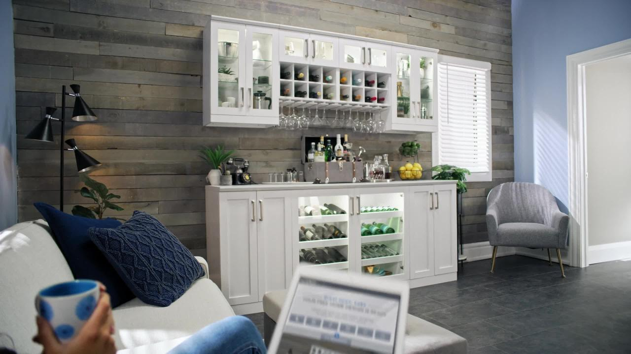 Newage Products Home Bar 21 In White Cabinet Set 9 Piece 62455 The Home Depot
