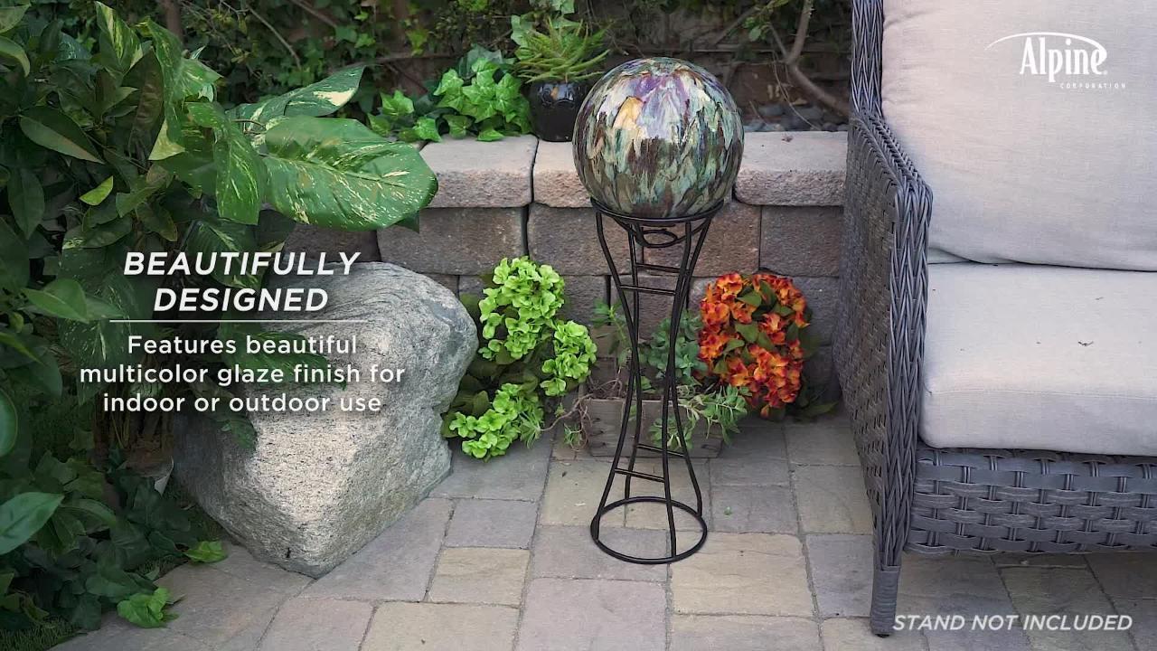 Multicolor Alpine Corporation HGY438 Alpine Glass Glazing Globe Gazing Balls