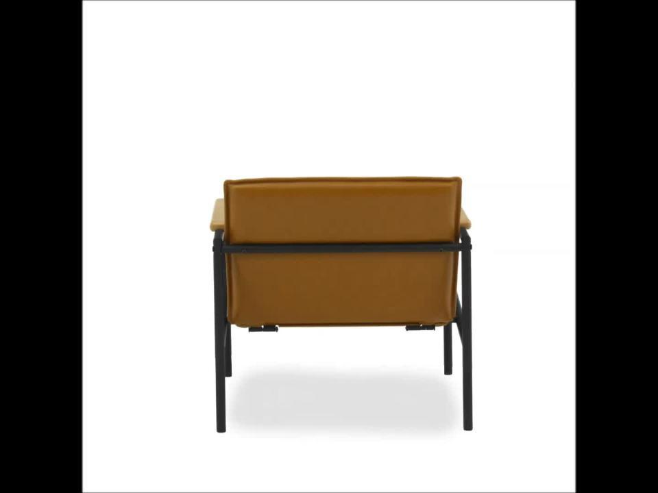 SAUDER - Boulevard Cafe Camel Leather-Like Metal Chair
