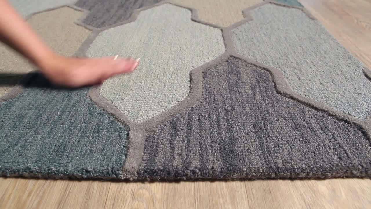 Artistic Weavers Pollack Morgan Teal 8 Ft X 11 Ft Indoor Area Rug Awah2036 811 The Home Depot