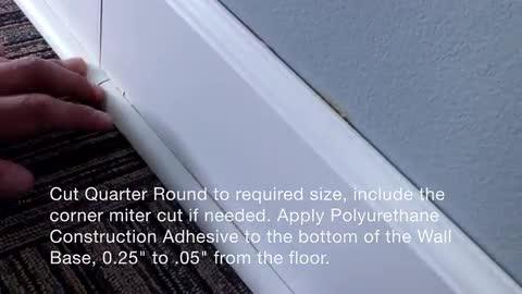 Home Decorators Collection Sannita Dark 19 Mm Thick X 3 4 In Wide X 94 In Length Coordinating Vinyl Quarter Round Molding Qr 60204 The Home Depot