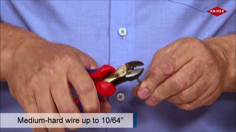 Knipex 8 In Cobolt Lever Action Compact Bolt Cutter 64 Hrc Forged Steel 71 01 200 The Home Depot