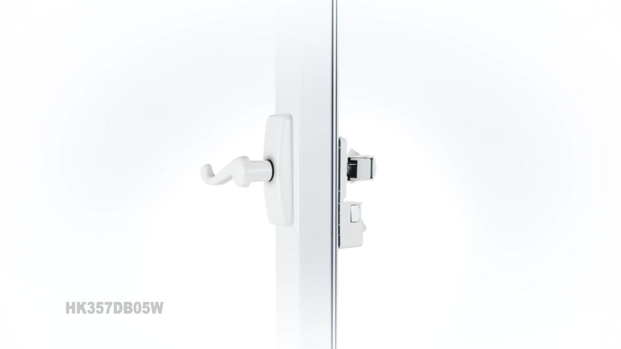 White Ideal Security SK5W SK5 Storm Door Deadbolt
